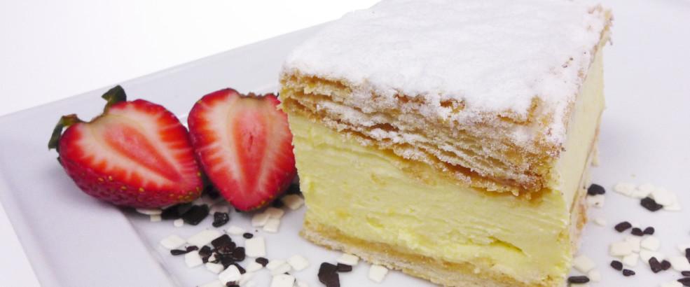 Kremówka, ciasto francuskie, poznań
