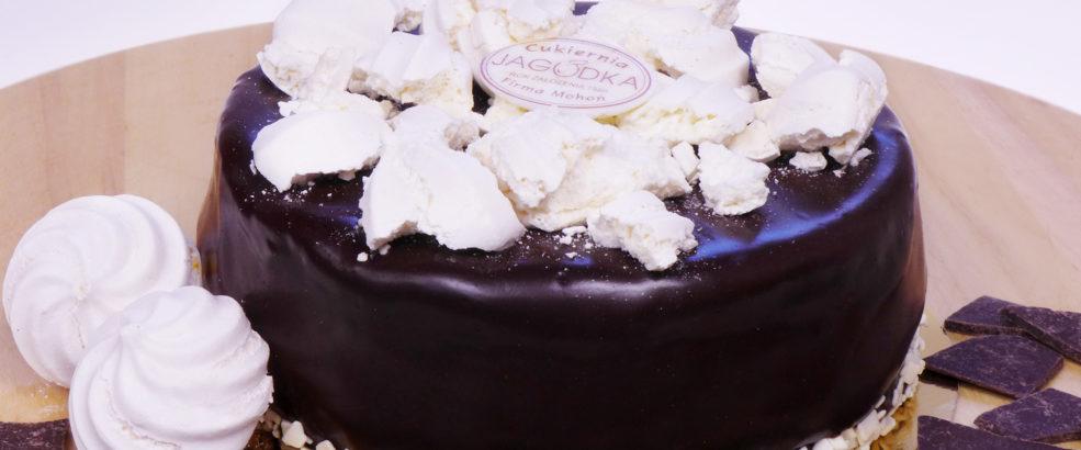 tort pralinowy z bezą i czarną porzeczką poznań