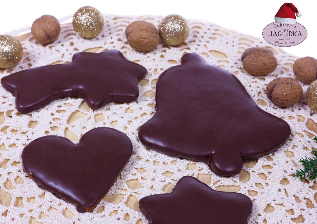 Pierniczki korzenne w polewie czekoladowej