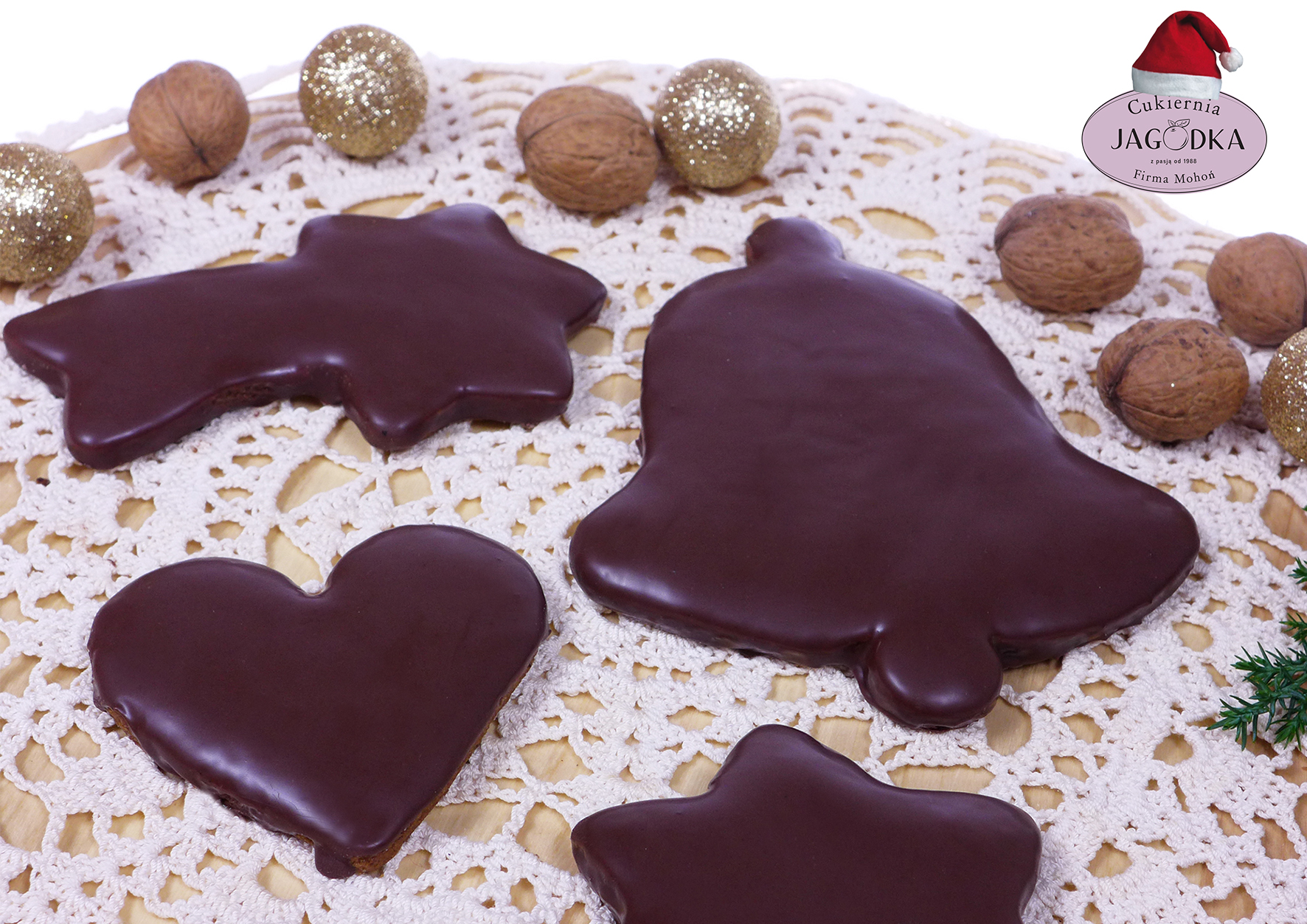pierniczki w polewie czekoladowej