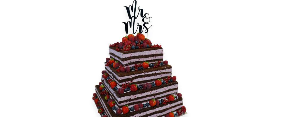 naked cake wesele