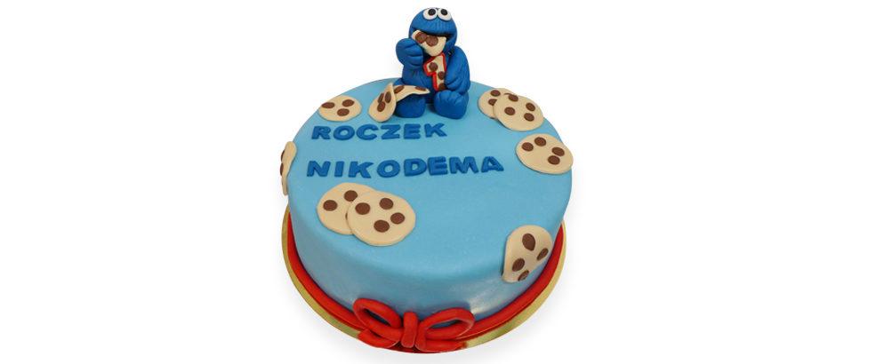 ciasteczkowy potwór tort