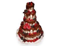 naked cake poznań, tort weselny